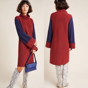 Anthro Callahan Duffy Colorblocked Sweater Dress